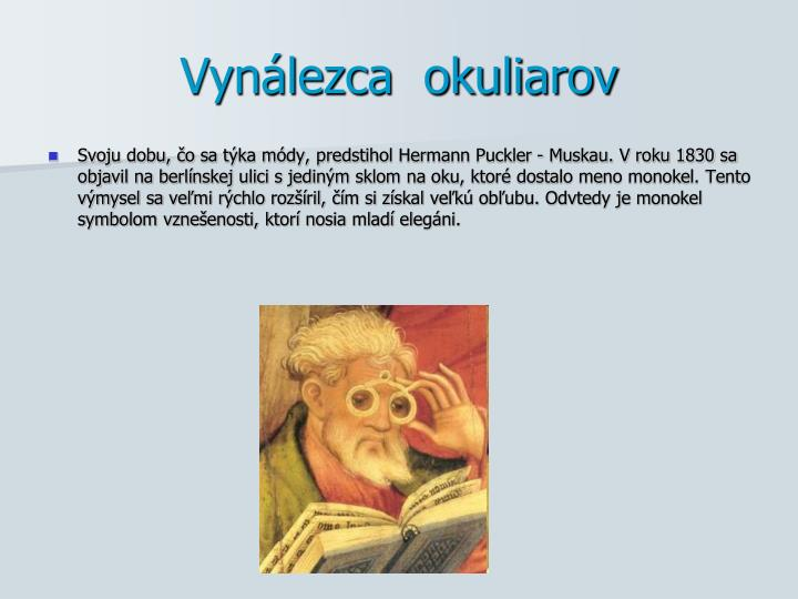Vynálezca  okuliarov