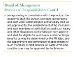 board of management duties and responsibilities cont d4