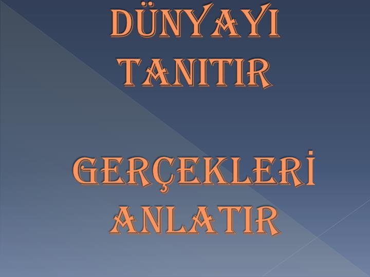DNYAYI TANITIR