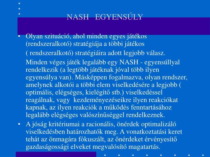 NASH   EGYENSÚLY