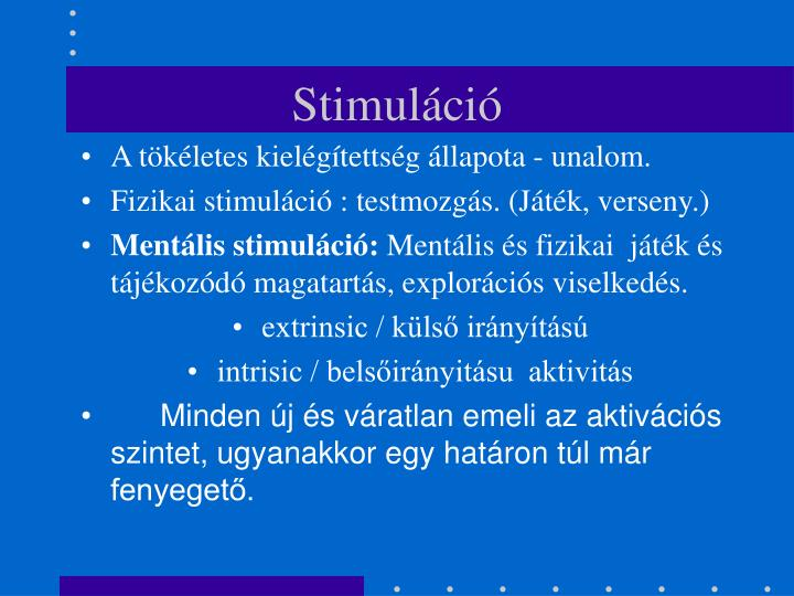 Stimuláció