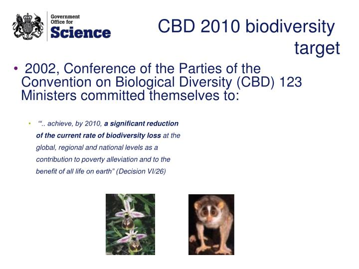 CBD 2010 biodiversity