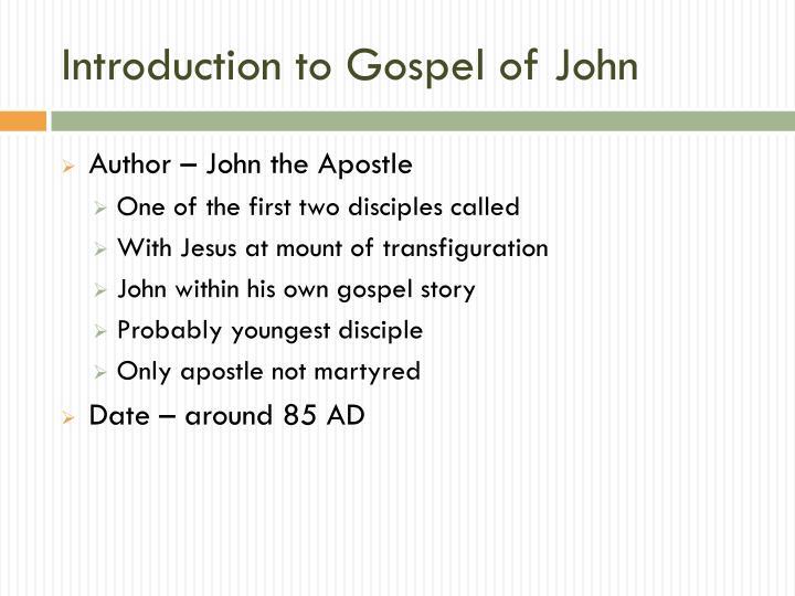 Powerpoint study of book john