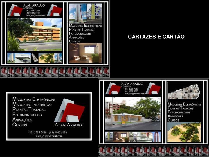 CARTAZES E CARTÃO