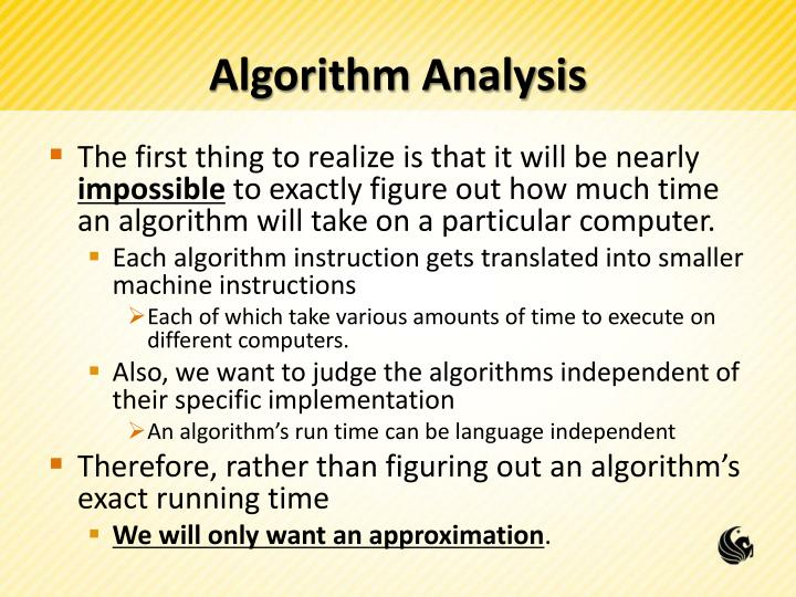 Algorithm analysis1