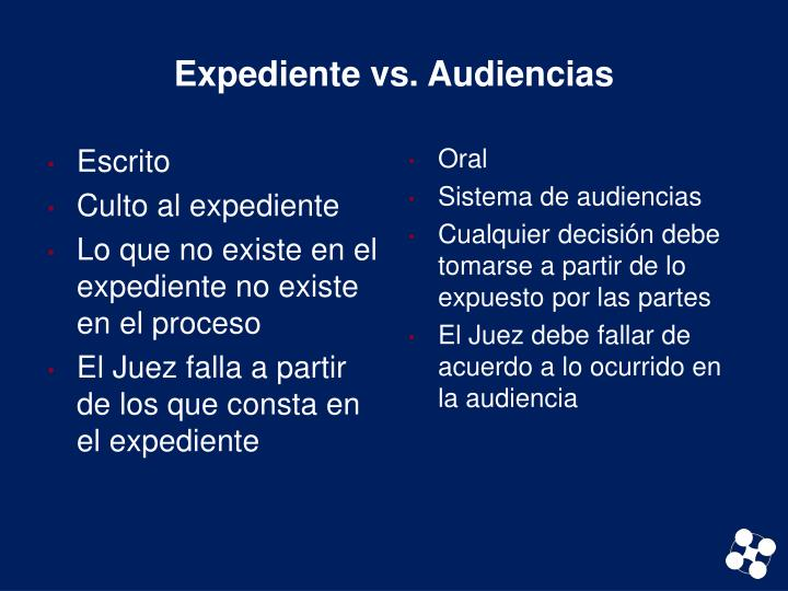 Expediente vs. Audiencias