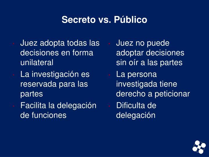 Secreto vs. Público