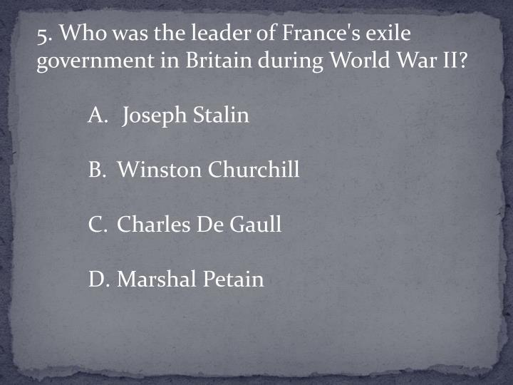 5. Who