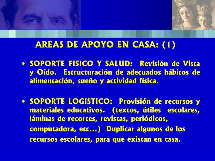 AREAS DE APOYO EN CASA: (1)