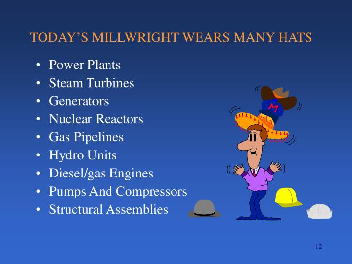 TODAY'S MILLWRIGHT WEARS MANY HATS