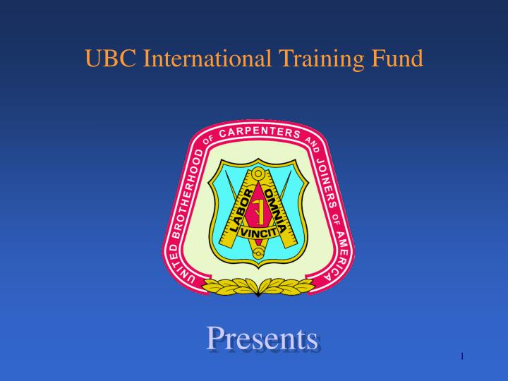 Ubc international training fund
