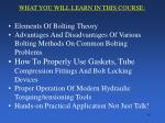 what you will learn in this course
