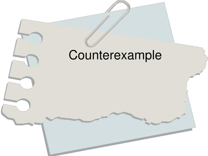 Counterexample