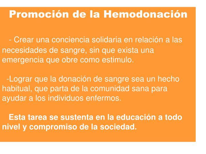 Promoción de la Hemodonación
