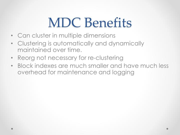 MDC Benefits