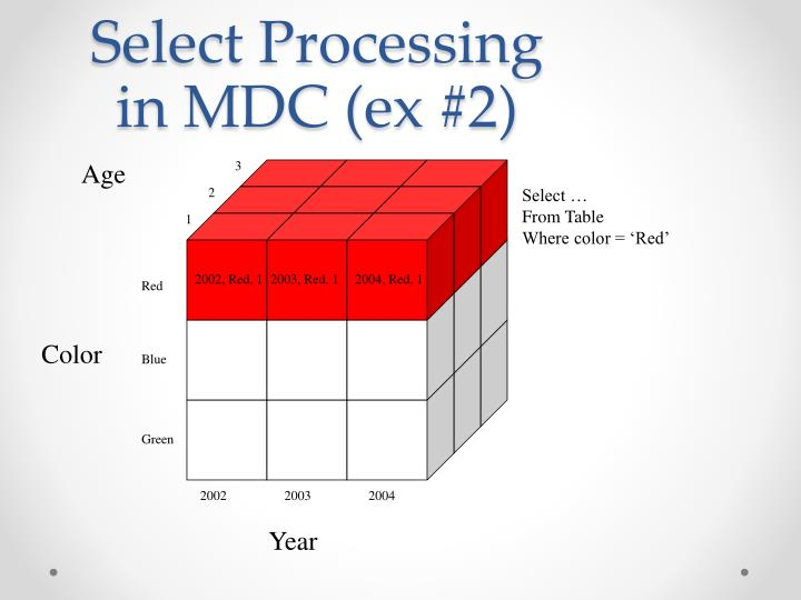 Select Processing in MDC (ex #2)