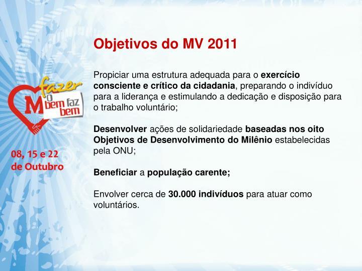 Objetivos do MV 2011