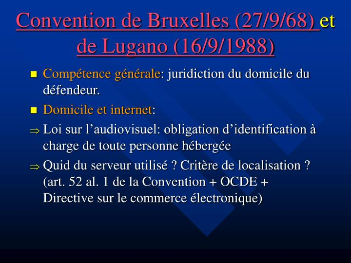 Convention de Bruxelles (27/9/68)