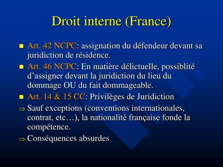 Droit interne (France)