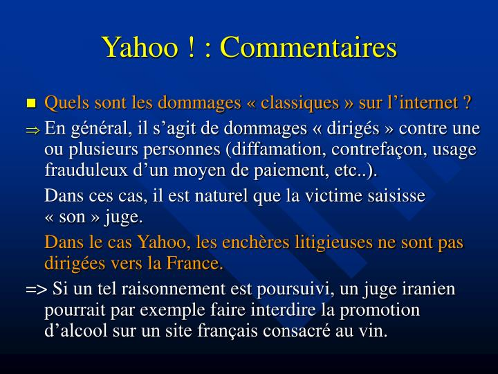 Yahoo ! : Commentaires