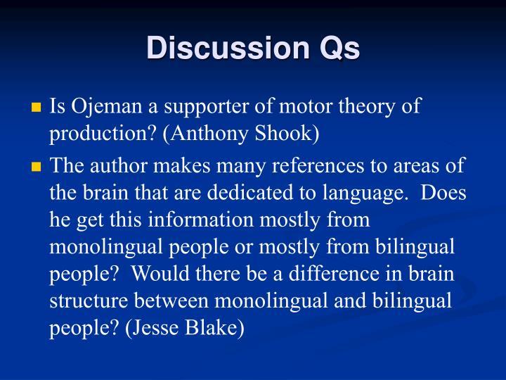 Discussion Qs
