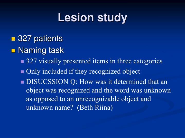 Lesion study
