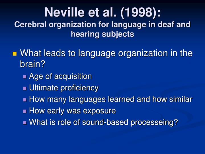 Neville et al. (1998):