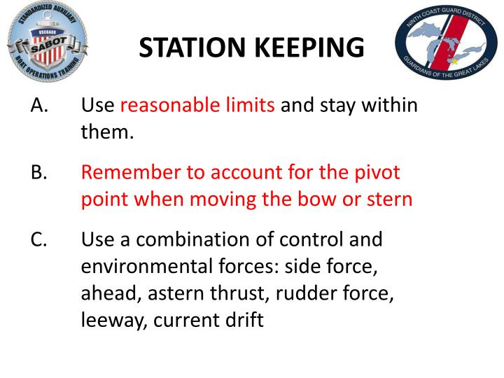 STATION KEEPING