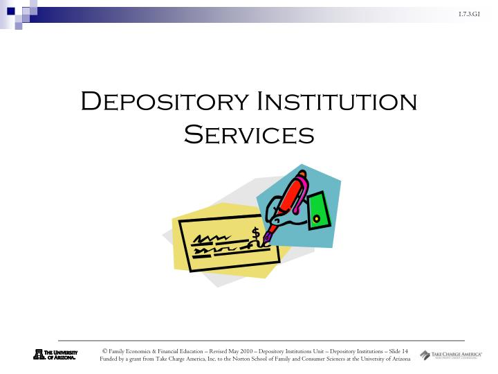 Depository Institution Services