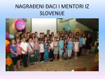 nagra eni aci i mentori iz slovenije