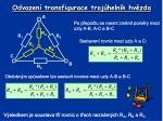 odvozen transfigurace troj heln k hv zda