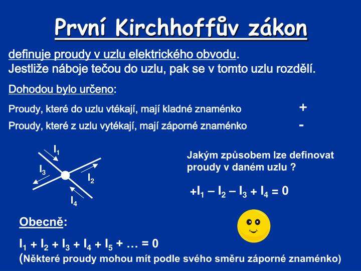 První Kirchhoffův zákon