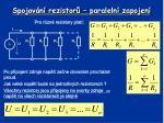 spojov n rezistor paraleln zapojen1