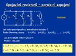 spojov n rezistor paraleln zapojen2