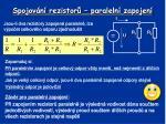 spojov n rezistor paraleln zapojen3