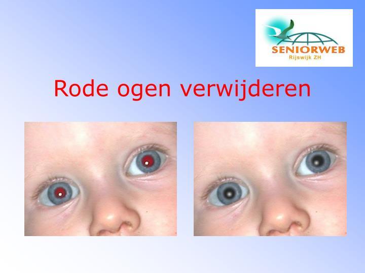 Rode ogen verwijderen