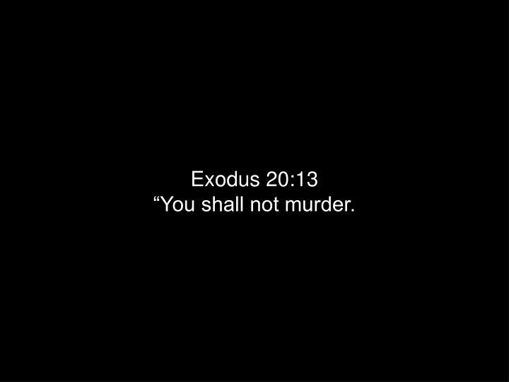 Exodus 20:13