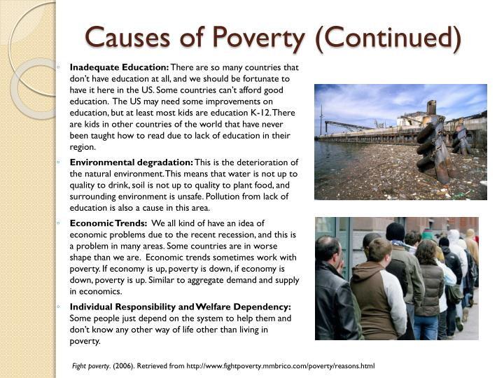 Causes of Poverty | List of Main Reasons Discussed