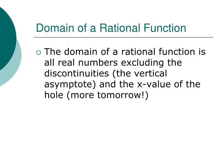 Domain of a Rational Function