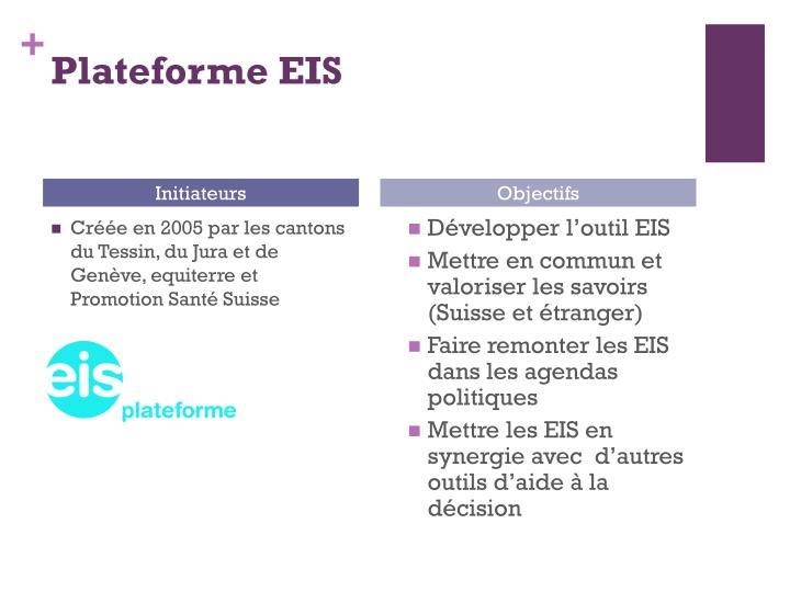 Plateforme EIS
