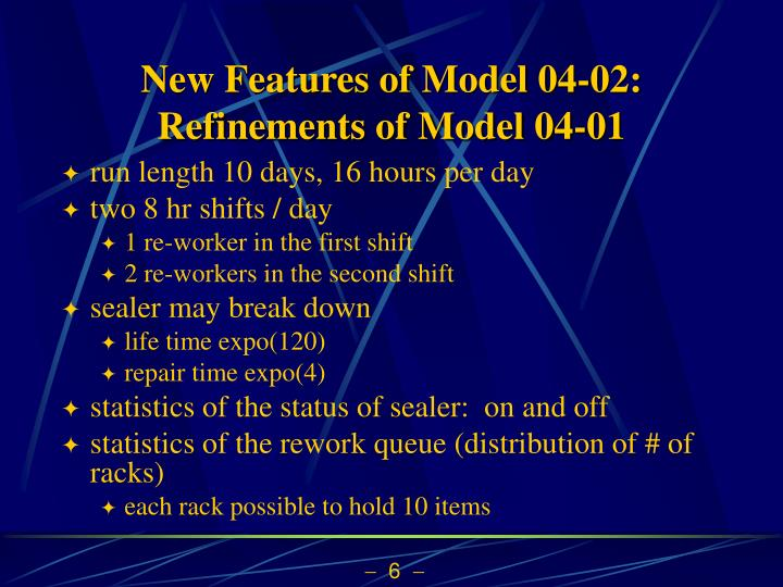 New Features of Model 04-02: