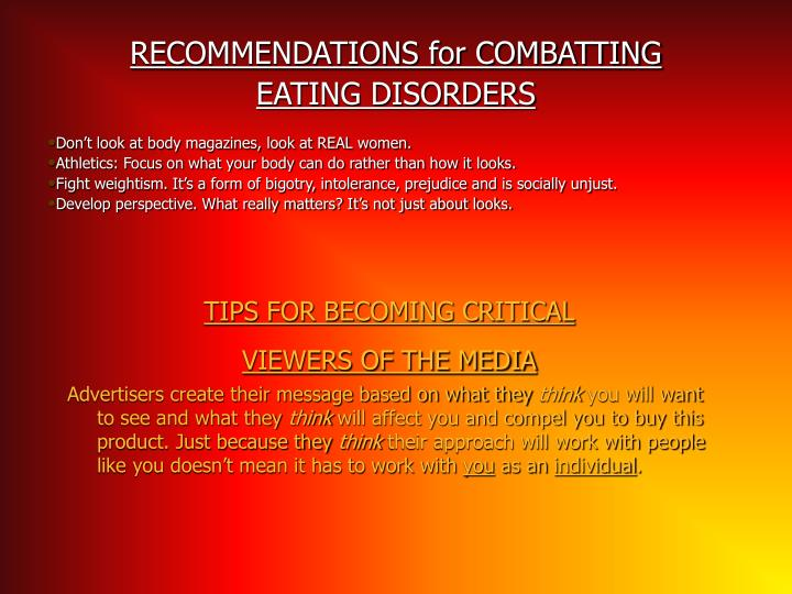 RECOMMENDATIONS for COMBATTING