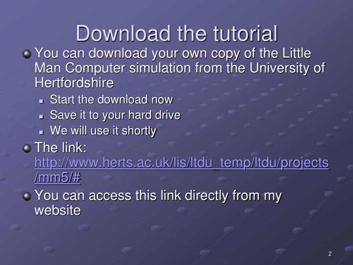 Download the tutorial