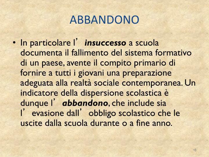 ABBANDONO