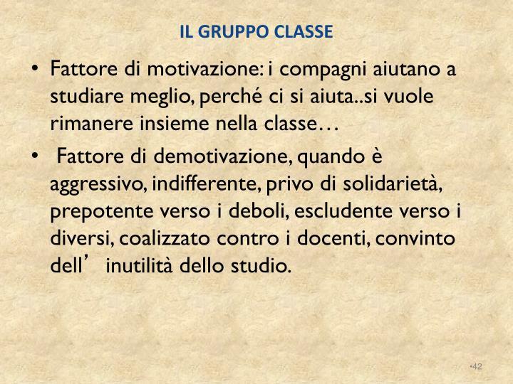 IL GRUPPO CLASSE