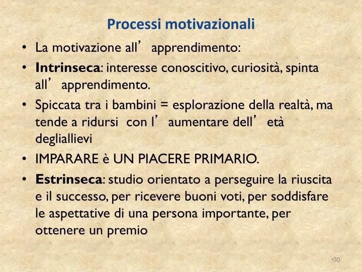 Processi motivazionali