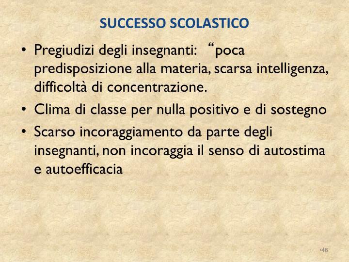 SUCCESSO SCOLASTICO