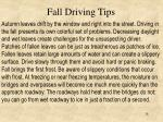 fall driving tips