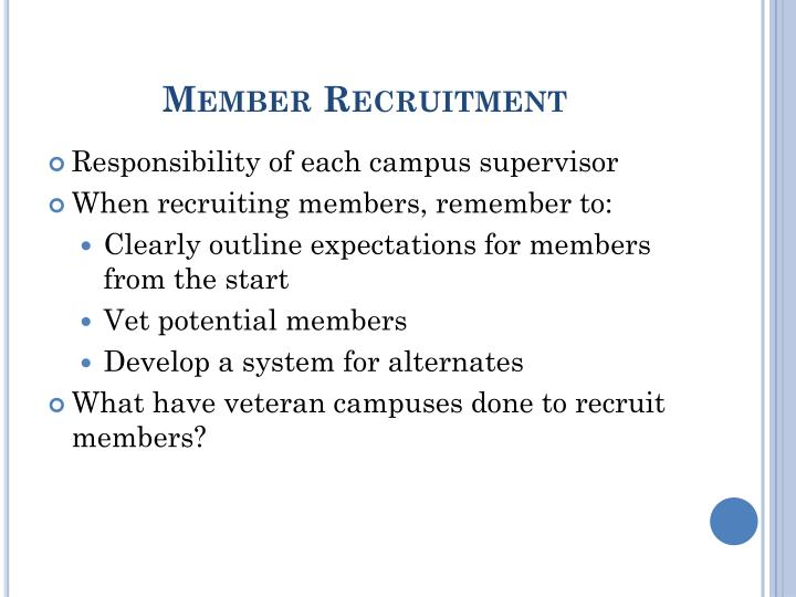 Member Recruitment