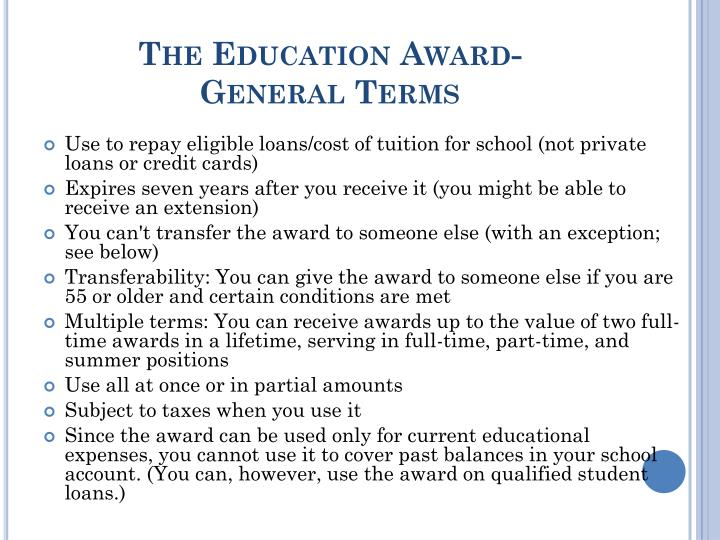 The Education Award-